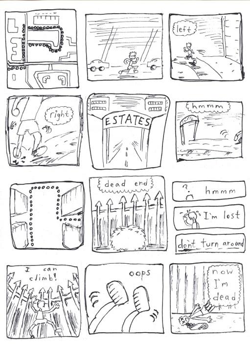 a run comic